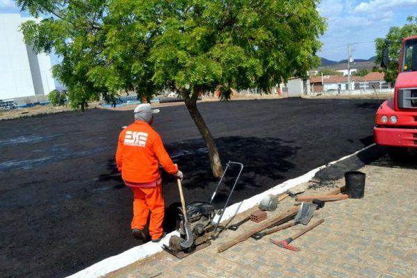Heliponto começa a ser preparado em Serra Talhada. Foto: Farol de Notícias/Alejandro García