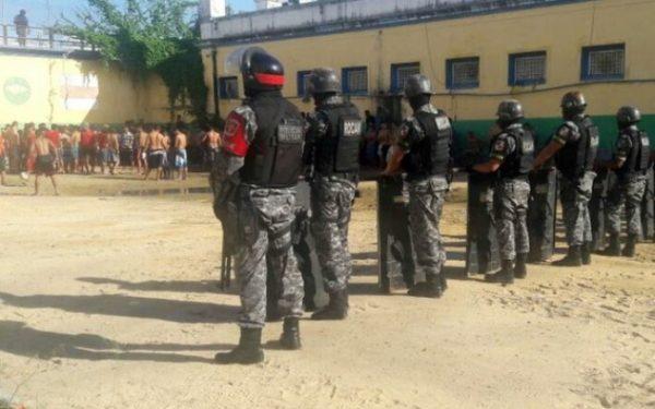 Cadeia Pública Raimundo Vidal Pessoa vem registrando problemas desde a última quinta-feira (5). Foto: Divulgação/Polícia Militar